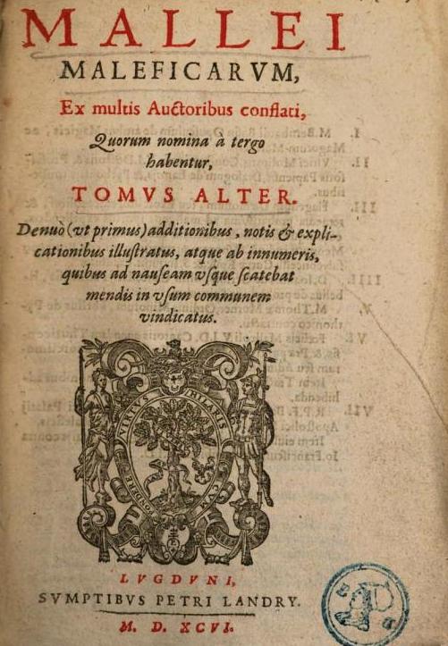"""""""Malleus Maleficarum"""" il libro"""